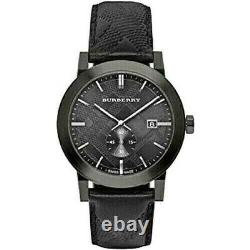 Brand New Burberry BU9906 The City Embossed Check Men's Watch
