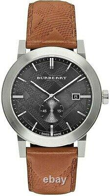 Brand New Burberry City BU9905 Embossed Check Men's Watch