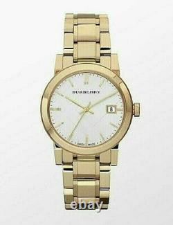 Brand New Burberry The City BU9203 Gold Tone Stainless Steel 26 mm Women's Watch