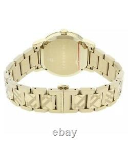 Brand New Burberry The City Gold Tone Stainless Steel 38mm Unisex Watch BU9038