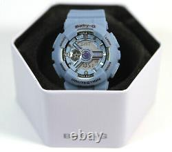 Brand New Casio Baby-G BA-110DC Light Blue Ladies Women Watch
