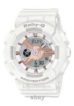 Brand New Casio G-Shock Baby-G BA110-LB White Gold Digital Watch MSRP $120.00