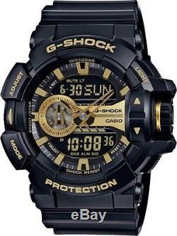 Brand New Casio G-shock Ga400gb-1a9 Black/gold Ana-digi Mens Watch Nwt