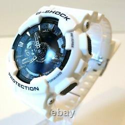 Brand New Casio Men's GA110 G Shock Goldtone White Resin Strap Watch