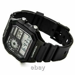 Brand New Casio World Time Digital Watch Ae1200wh-1a Uk Seller