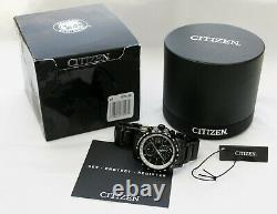 Brand New! Citizen AT8175-58E Atomic World Time Black Ion Watch, Box & Papers