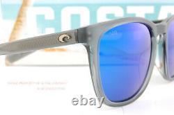 Brand New Costa Del Mar Sunglasses SULLIVAN Matte Gray Crystal Blue Mirror 580G