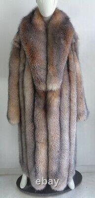 Brand New Crystal Fox Fur Coat Jacket Women Woman Size All