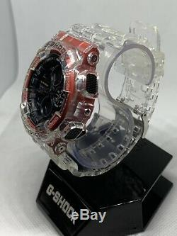 Brand New Custom Casio G shock GA-140 crystal clear Band And Bezel