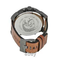 Brand New Diesel DZ7332 Black Dial Brown Leather Gunmetal Men's Wrist Watch