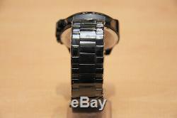 Brand New Diesel Dz4318 Black Ion-plated Mega Chief Chronograph Mens Watch