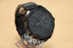 Brand New Diesel Dz7396 Mr. Daddy 2.0 57mm Black Stainless Steel Mens Watch