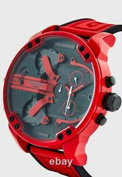 Brand New Diesel Mr Daddy 2.0 Chronograph Three-Hand & Red Silicone Men's Watch