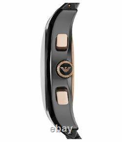 Brand New Emporio Armani AR1410 Men's Ceramica Chronograph Watch