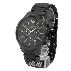 Brand New Emporio Armani AR1451 Men's Ceramic Black Chronograph Dial Watch
