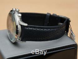 Brand New Emporio Armani Ar2473 Mens Genuine Renato Blue Leather Gents Watch