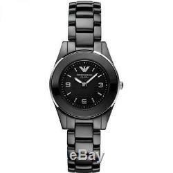 Brand New Emporio Armani Ladies Black Ceramic Watch AR1438