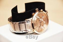 Brand New Emporio Armani Men's Watch Ar2452 Rose Gold Chronograph Rrp £399