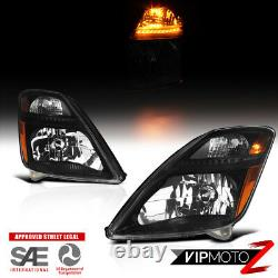 Brand New For 06-09 Toyota Prius Factory Style Black Headlights Left+Right