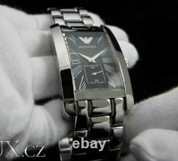 Brand New Genuine Emporio Armani Ar0156 Classic Steel Black Dial Mens Watch Uk