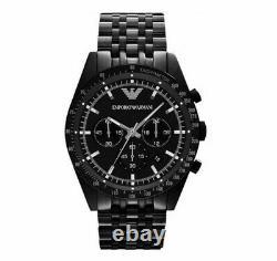 Brand New Genuine Emporio Armani Ar5989 Black Stainless Steel Chrono Mens Watch