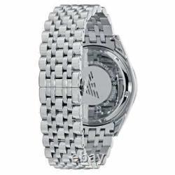 Brand New Genuine Emporio Armani Watch Ar6072 Mens Tazio Blue Dial Metal Strap