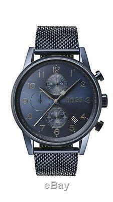 Brand New Genuine Hugo Boss 1513538 Gq Edition Navigator Blue Chronograph Mens