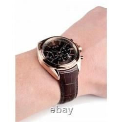 Brand New Genuine Hugo Boss Hb1513093 Driver Brown Leather Strap Mens Watch
