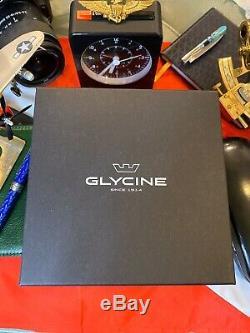 Brand New Glycine GL0210 Airman Purist 24HR Bezel Lock Swiss Automatic MSRP$2690