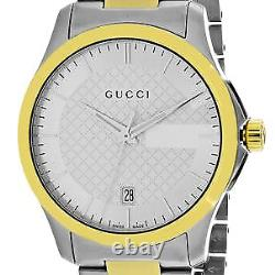 Brand New Gucci YA126450 G-Timeless 38MM Men's Two-Tone Stainless Steel Watch