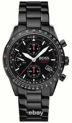 Brand New Hugo Boss Black Dial Stainless Steel Chronograph Men Watch Hb1513771