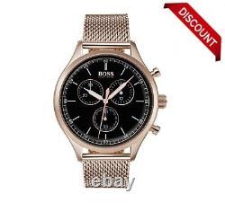 Brand New Hugo Boss Hb1513548 Mens Rose Gold Companion Watch