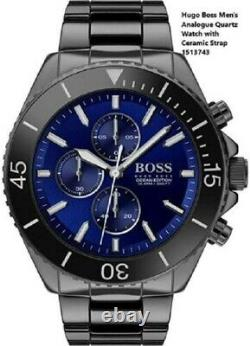 Brand New Hugo Boss Ocean Edition Blue Dial Chronograph Mens Watch Hb1513743