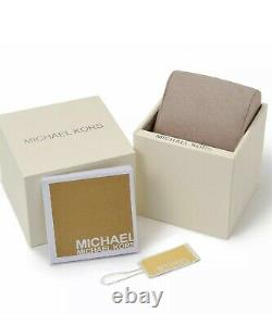 Brand New MICHAEL KORS MK8494 Lexington Gold Glitz Unisex Watch Free Shipping