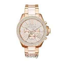 Brand New MK6096 Wren Crystal Pave Dial Chronograph 42 mm Ladies Watch