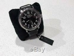 Brand New Men's Shinola The Runwell 47mm Watch with Black Dial & Leather Strap