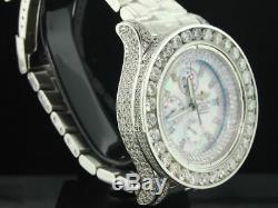 Brand New Mens Breitling Super Avenger 1 Row Big Diamond Custom Watch 22.55 Ct