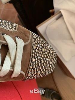 Brand New Mens Christian Louboutin Sz 9 Swarovski Crystals 100% Authentic