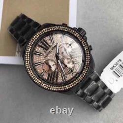 Brand New Michael Kors MK5879 Everest Black Rose Stainless Quartz Women's Watch