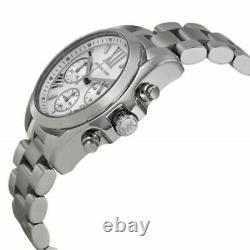 Brand New Michael Kors MK6174 Bradshaw Chronograph Silver Tone Ladies Watch