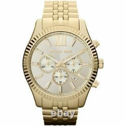 Brand New Michael Kors MK8281 Lexington Gold Tone Stainless Steel Unisex Watch