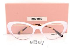 Brand New Miu Miu Eyeglass Frames MU 05RV 115 1O1 White Gradiet/Crystal Women 53