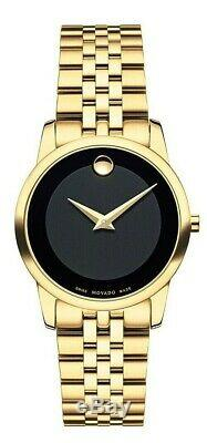 Brand New Movado 0607005 Museum Dial Gold Tone Stainless steel Women's Watch
