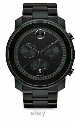 Brand New Movado BOLD Men's Swiss Chronograph Black Dial Watch 3600277