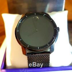 Brand New Movado Bold 3600261 Black Stainless Steel Men's Swiss Quartz Watch