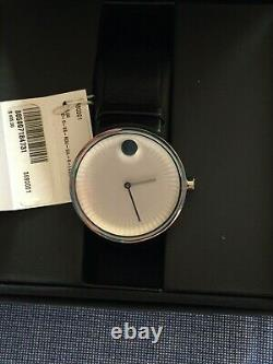 Brand New Movado Bold Edge Mens Silver Dial Stainless Steel Watch 3680001