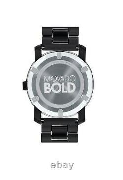 Brand New Movado Bold Mens Chocolate Brown 42mm Watch 3600462