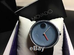Brand New Movado Edge Blue Dial Silicone Men's Watch 3680004 With Tags Genuine