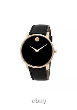 Brand New Movado Men's Rose Gold Museum Classic 0607272