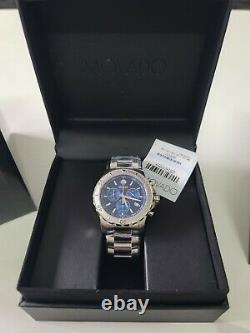 Brand New Movado Mens Series 800 Blue Dial Chronograph Watch 2600151